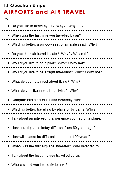 Air Travel Question Answers