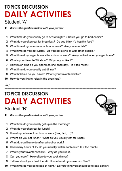 All Worksheets u00bb Daily Activities Worksheets - Printable ...