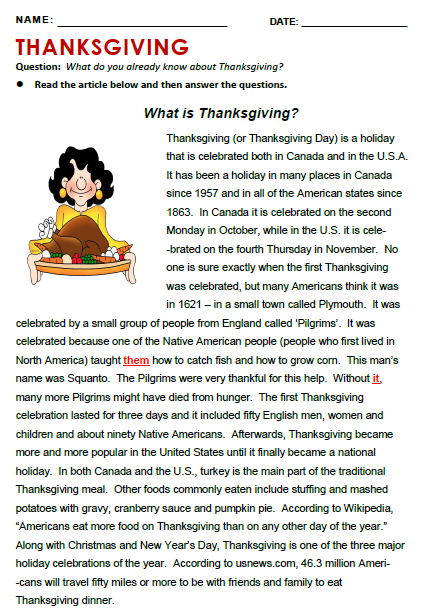 thanksgiving history text
