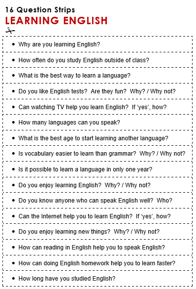 learning english homework