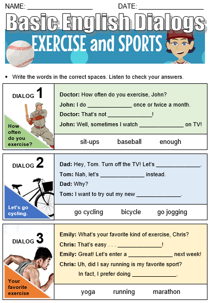 Exercise and Sports - All Things Topics