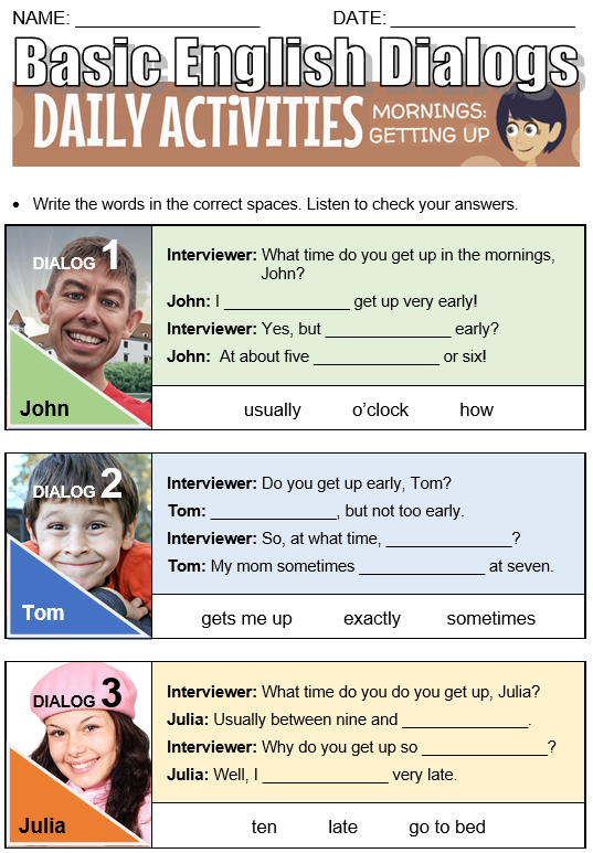 Daily Activities - All Things Topics
